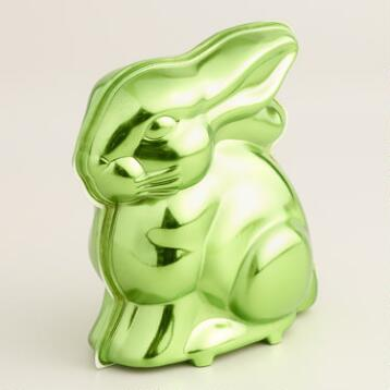 Frey  Chocolate Bunny in Green Metallic Tin