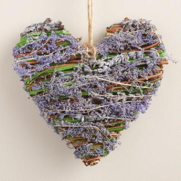 Lavender Heart Hanging Decor