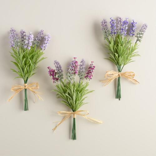 Lavender Bunches Set of 3