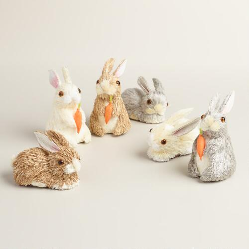 Natural Fiber Mini Bunnies 12 Pack