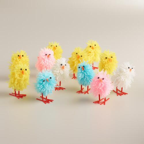 6 Piece Fabric Chicks Set of 4