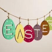 Wood Egg Easter Garland