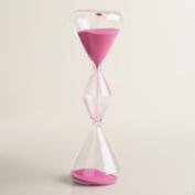 Glass Sand Timer with Pink Sand