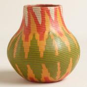 Small Fabric Wrapped Terracotta Vase