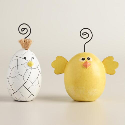 Chicken and Egg Cardholders Set of 2