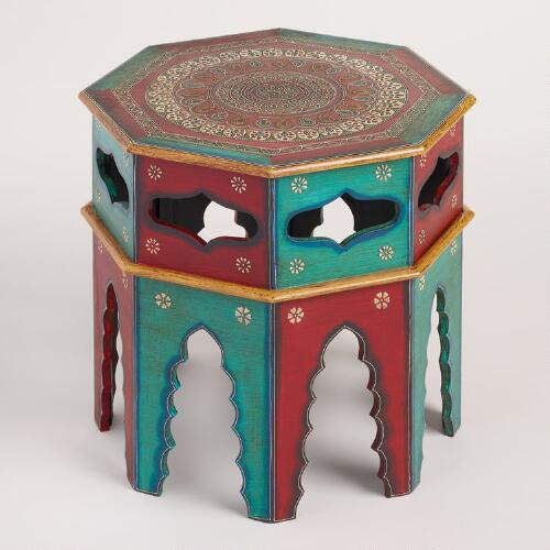 Octagonal Painted Wood Table
