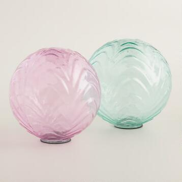 Small Glass Sphere Decor Set of 2
