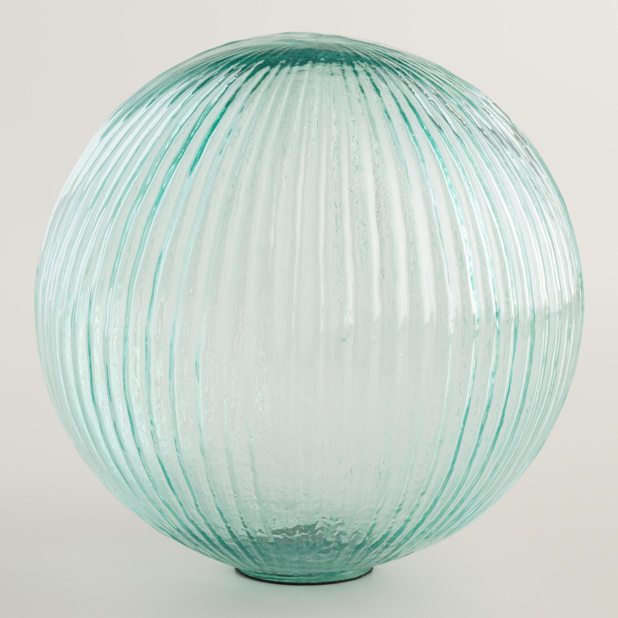 Large teal glass sphere decor world market