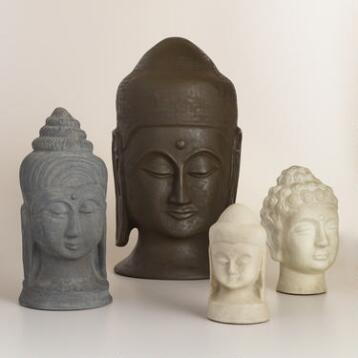 Paper Mache Buddha Head Collection