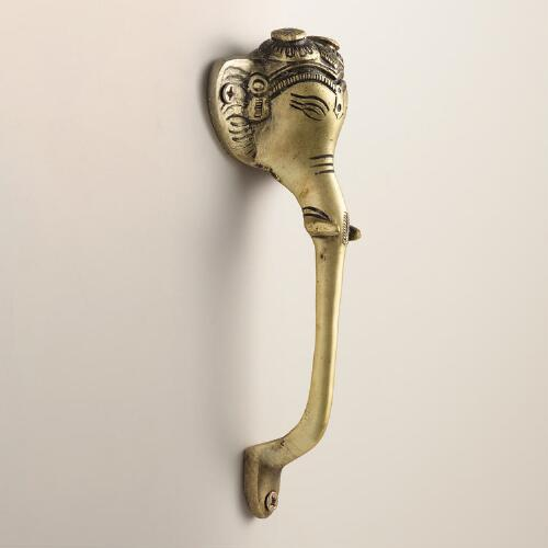 Gold Elephant Door Pull