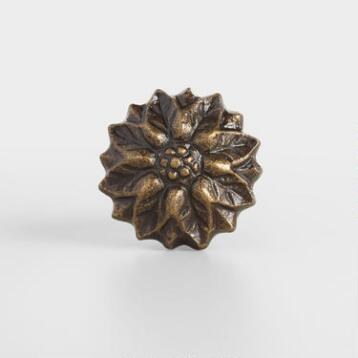 Bronze Flower Knobs Set of 2