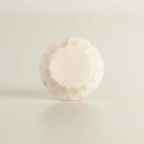 Carved Bone Faceted Knobs Set of 2