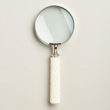 Ivory Resin Magnifying Glass