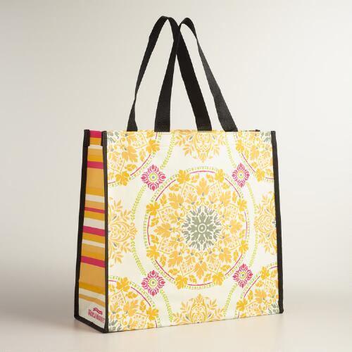Tile Print Julianna Tote Bags Set of 2