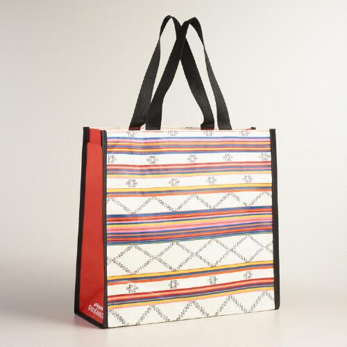 Tribal Jacquard Tote Bags Set of 2