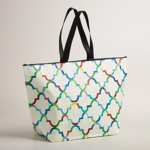 Ivory Oceans Gate Zip Tote Bag