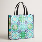 Coastal Tile Tote Bags Set of 2