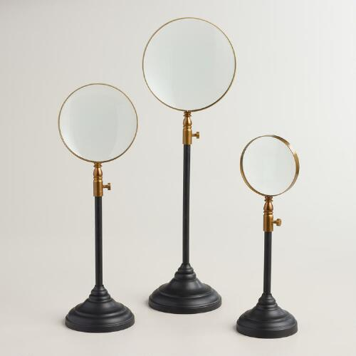 Glass Magnifier on Stand