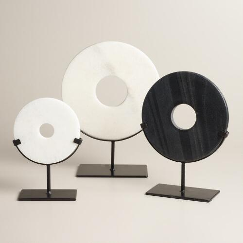 Marble Disc on Stand