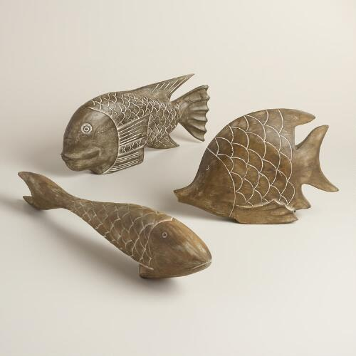 Wood Fish Decor