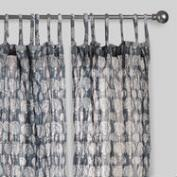 Gray Lucy Crinkle Sheer Voile Cotton Curtains Set of 2