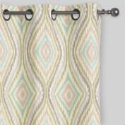 Aqua Ikat Eclipse Grommet Top Curtains Set of 2