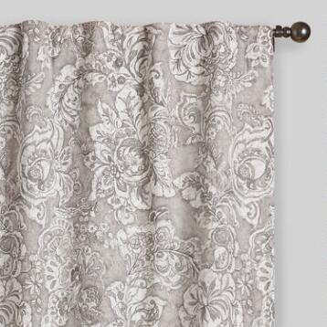 Gray Adelaide Concealed Top Curtains Set of 2