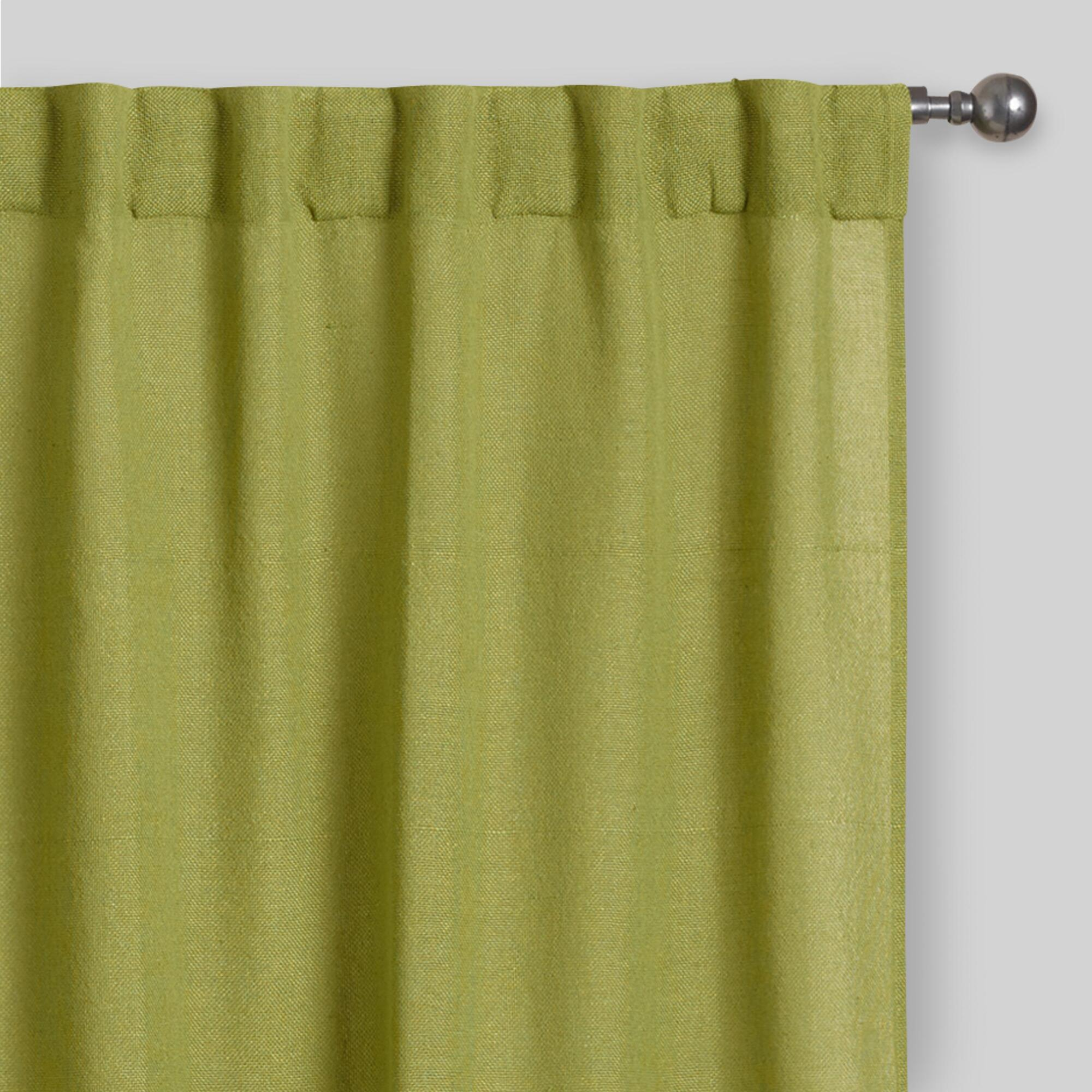 Peridot Bella Concealed Tab Top Curtains Set Of 2