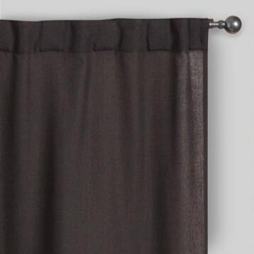 Charcoal Bella Concealed Tab Top Curtains Set of 2