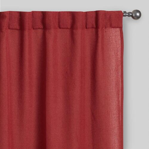 Rust Bella Concealed Tab Top Curtains Set of 2