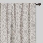 Gray Geo Laura Concealed Tab Top Curtains