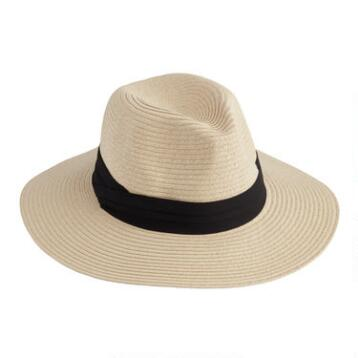 Panama Hat with Folded Black Band