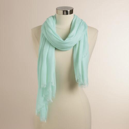 Oversized Sheer Mint Scarf