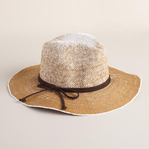 White and Tan Ombre Panama Hat