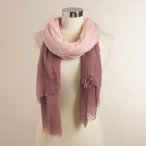 Oversized Pink Ombre Scarf