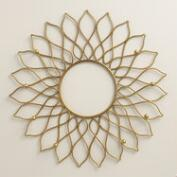 Gold Sunburst Wall Jewelry Holder