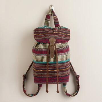 Blue Carpet Woven Backpack