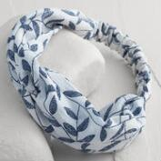 Blue Leaves Turban Headband