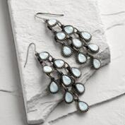 Light Blue Chandelier Earrings