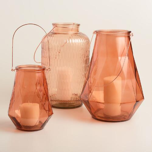 Copper Glass Aria Lantern Collection