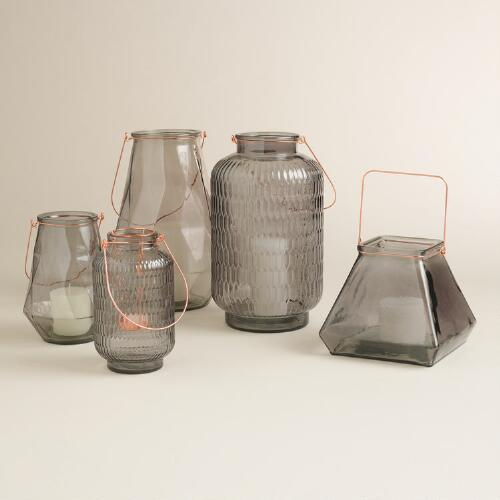 Gray Glass Aria Lantern Collection