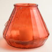 Large Orange Shell Glass Aria Lantern