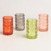 Aria Diamond Tealight Holders Set of 4