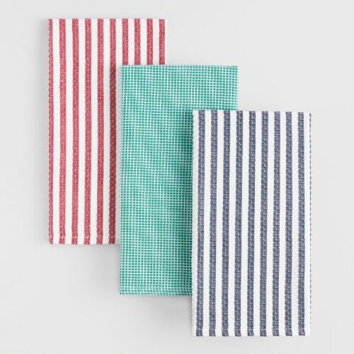 Waffle Weave Kitchen Towels Set of 3