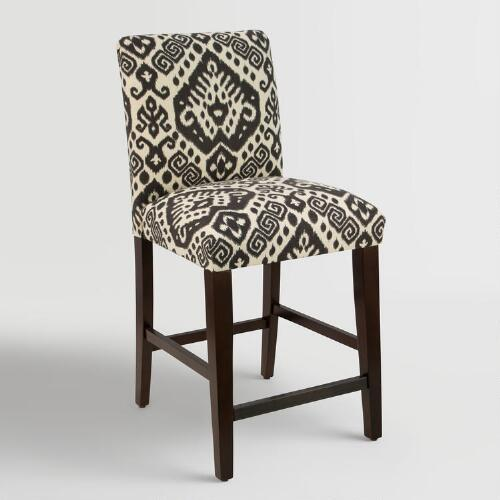 Charcoal Safi Kerri Upholstered Counter Stool