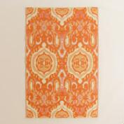 4x6 Orange Ikat Reversible Rio Floor Mat