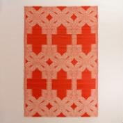 6x9 Red and White Alonso Reversible Rio Floor Mat