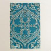 Blue and White Pacifica Reversible Rio Floor Mat