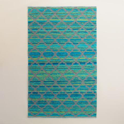 Oceans Gate Reversible Indoor Outdoor Rug | World Market - photo#12