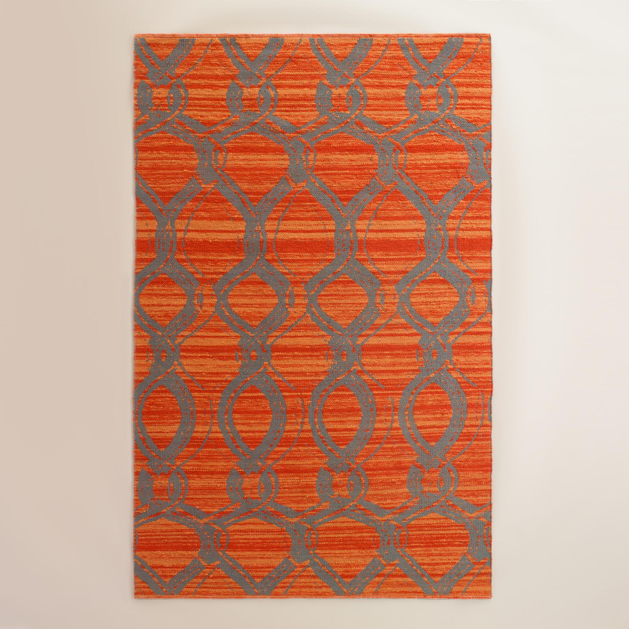 Orange and Gray Ventura Reversible Indoor Outdoor Rug ... - photo#39